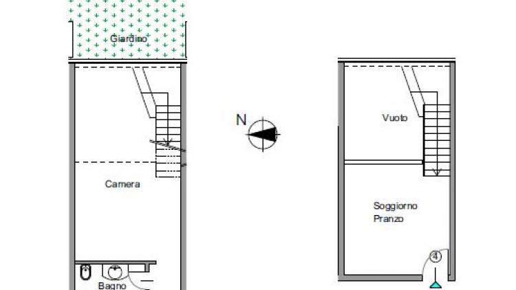 Duplex in centro con giardino