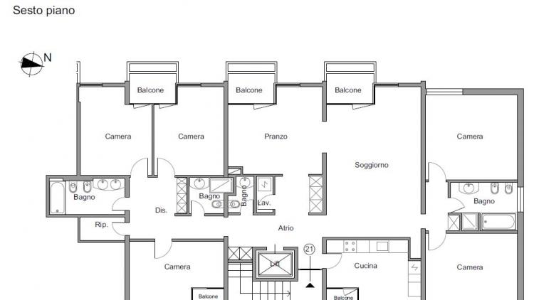 Meraviglioso attico di 7.5 locali