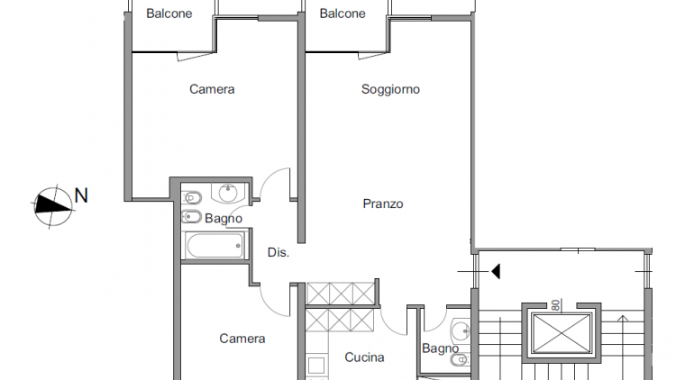 Bel appartamento ristrutturato 3.5 locali - al terzo piano
