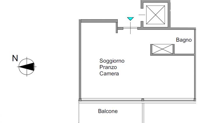 Appartamento 2 locali completamente rinnovato - in pieno centro